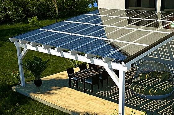 infrasugárzó teraszfűtés - napelem